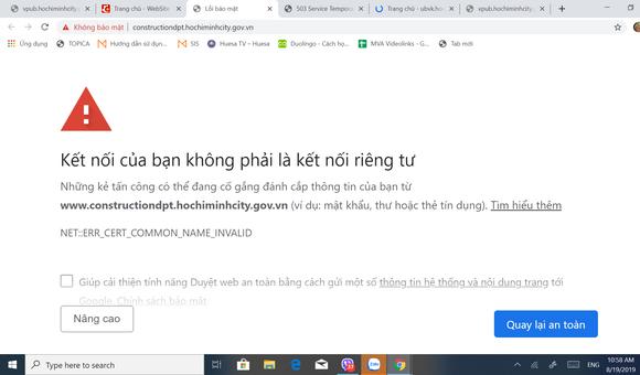 Hệ thống mạng thuộc UBND TPHCM  không truy cập được ảnh 2