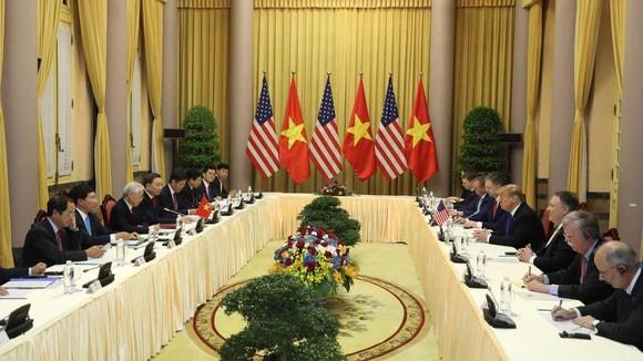Tổng Bí thư, Chủ tịch nước Nguyễn Phú Trọng tiếp Tổng thống Donald Trump ảnh 5