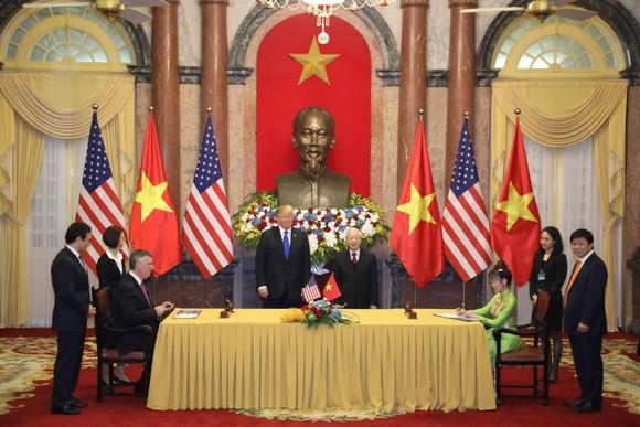Tổng Bí thư, Chủ tịch nước Nguyễn Phú Trọng tiếp Tổng thống Donald Trump ảnh 7