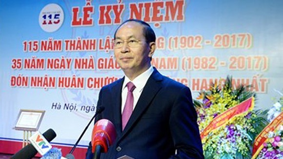 State President Quang attends Hanoi Medicine University's anniversary