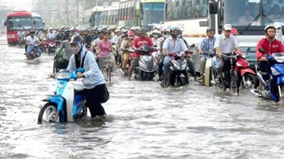Weather forecaster warns flooding in Dong Nai River, high tide