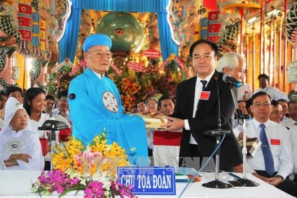 At the congress of the Cao Dai Tay Ninh Church. (Photo: VNA)