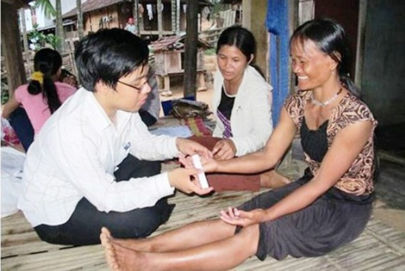Recurrence of bizarre skin disease in Quang Ngai province