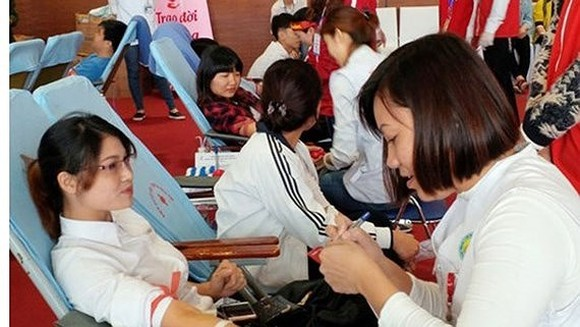 Percentage of donated blood in HCMC over 91 percent of 2017 plan