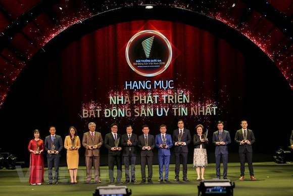 Vingroup, Sun Group, and FLC Group were among the winners of the prestigious real estate developer awards (Photo: VNA)