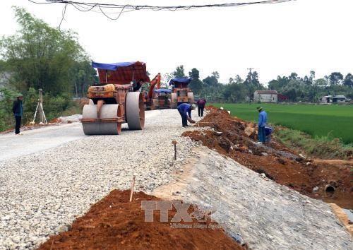 Building transport infrastructure in Yen Dinh district, Thanh Hoa province (Illustrative image. Source: VNA)