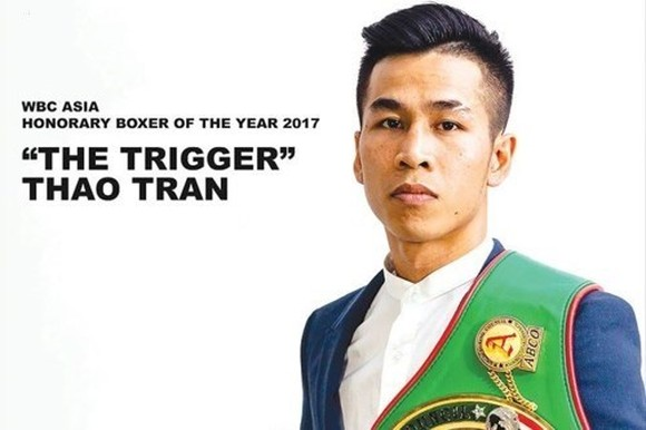 WBC Asia boxer of the year Tran Van Thao. (Photo: tienphong.vn)