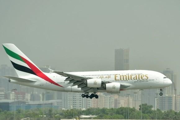 The Airbus A380 aircraft of Emirates Airline (Photo: VNA)