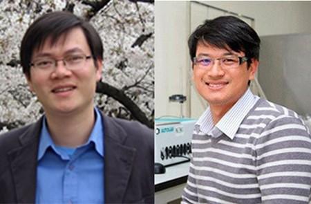 Associate Professor Doctor Pham Van Hung (L) and Doctor Tran Dinh Phong