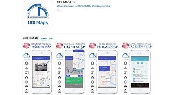 The app UDI Maps