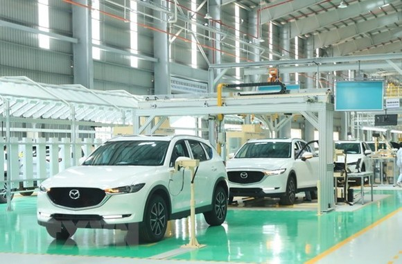 The Thaco Mazda factory of Truong Hai Automobile Co. Ltd (Photo: VNA)