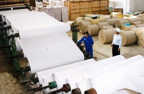 Capital shortage has been a headache for local paper manufacturers (Photo: VNA)