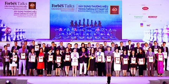 Four Vietnamese big companies in Forbes' top 40 most valuable brands