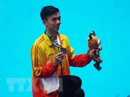 Vietnamese swimmer Nguyen Huy Hoang (Photo: VNA)