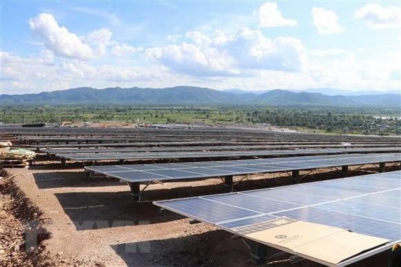 At the Krong Pa mega-solar power plant (Photo: VNA)