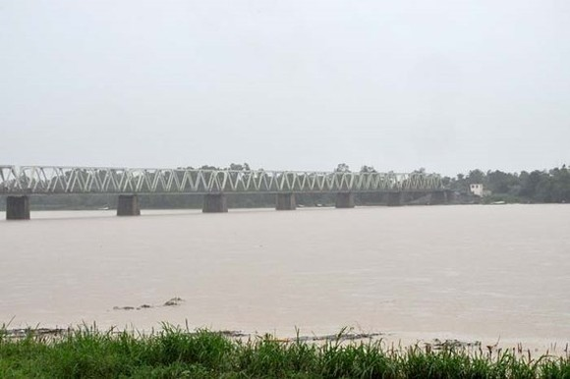 River water in Quang Ngai rises (Photo: SGGP)