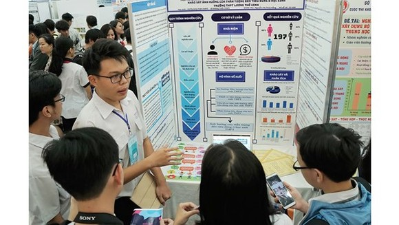 HCMC education department holds science-tech competition for high schoolers