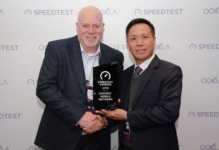 VinaPhone leader received the Speedtest Awards