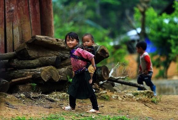 Ethnic minority children in the northwestern province of Dien Bien (Photo: VNA)