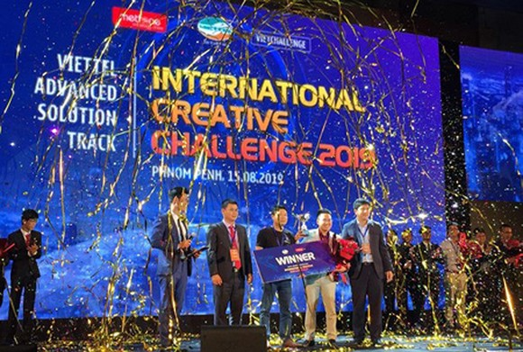 Vietnamese team VVN - the champion of the contest Viettel Advanced Solution Track 2019. (Photo: SGGP)