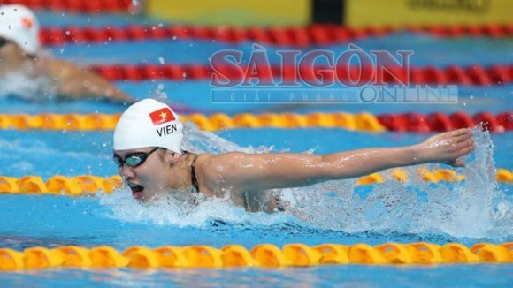 Swimmer Anh Vien wins eight gold and two silver medals at SEA Games 2017