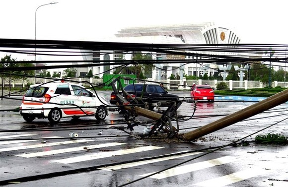 Electrical poles and lines downed by typhoon Damrey in Tuy Hoa City of the south-central province Phu Yen on November 4. — VNA/VNS