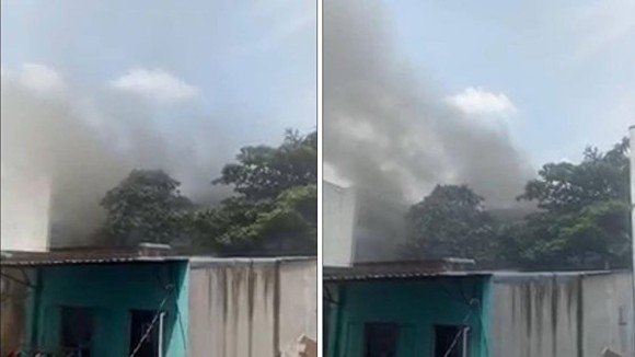 A fire suddenly occurs in Nhan Van Private High school, Tan Phu district, Ho Chi Minh City