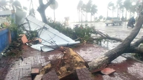 Typhoon Damrey causes serious damages in the central region