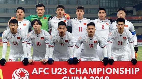 The  U23 Vietnam football players (Photo:VFF)