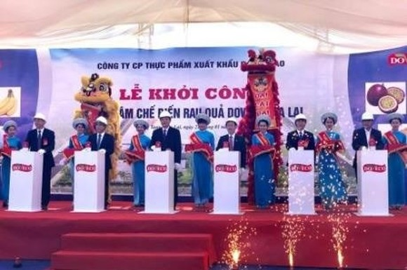 Groundbreaking ceremony of the fruit and vegetable processing centre (Source: VNA)