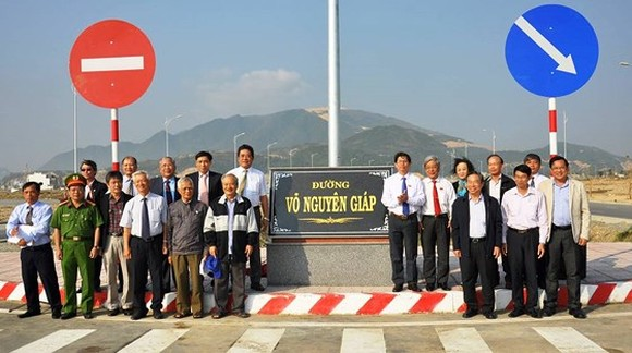 Khanh Hoa officially names road after General Vo Nguyen Giap