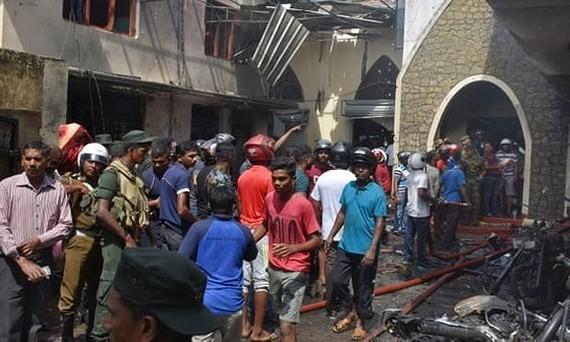 Scene of bomb attacks in Sri Lanka on April 21 (photo:EPA)