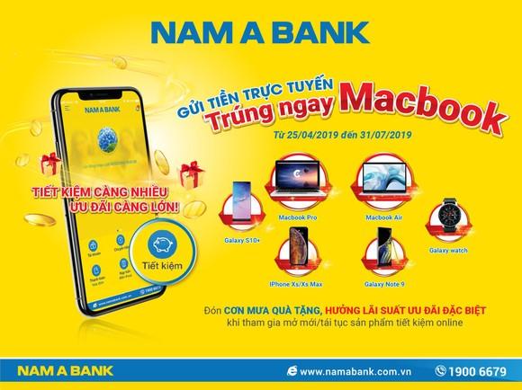Gửi tiền online tại Nam A Bank, trúng ngay siêu phẩm công nghệ  