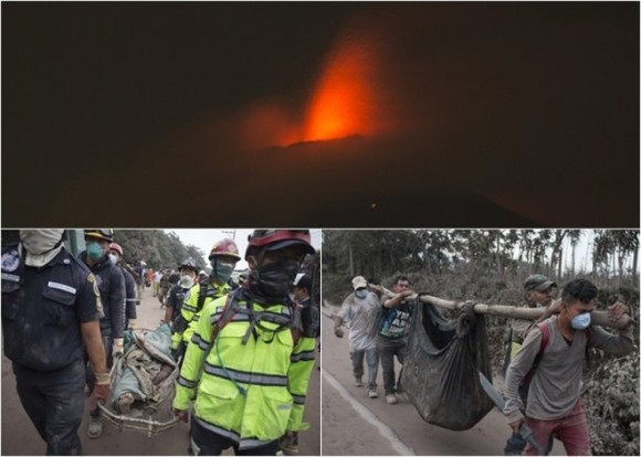 富埃戈火山噴發遇難人數已升至25人,300人受傷。(圖源:AP)