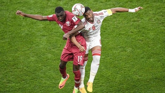 卡塔爾對阿聯酋比賽一瞥。(圖源:互聯網)