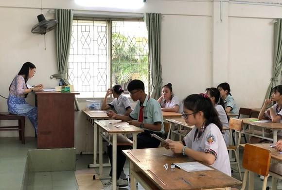 圖為2019-2020學年度高中入學考試考場一瞥。(圖源:阮勇)