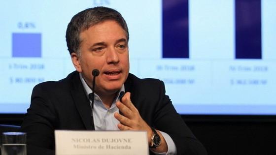 阿根廷財政部長尼古拉斯‧杜霍夫內。(圖源:歐新社)