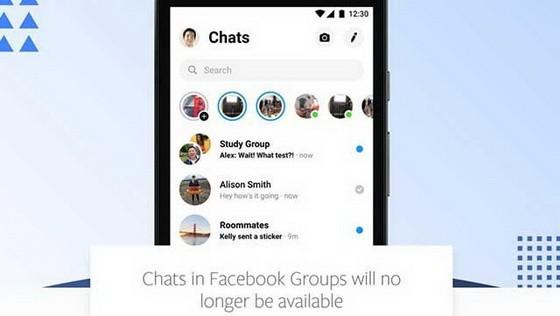 臉書的群組聊天功能將不再可用!(圖源:互聯網)