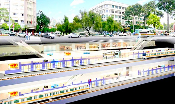 An artists' impression of the underground depot of metro line Ben Thanh -Long Binh (Photo: HCMC Urban Railway Management Board)
