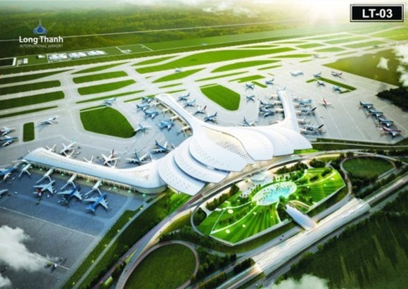 An artist's impression of Long Thanh International Airport planned to be built in Dong Nai province