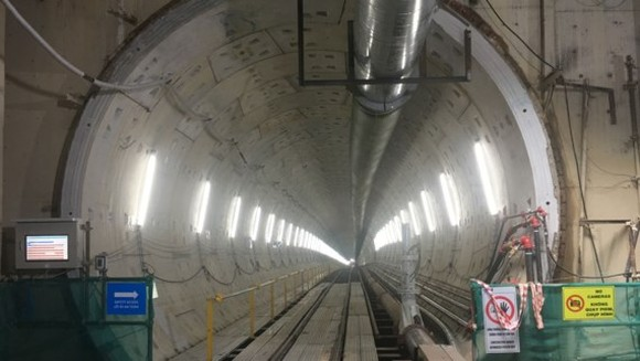 An under construction tunnel of Ben Thanh-Suoi Tien metro line in HCMC (Photo: SGGP)