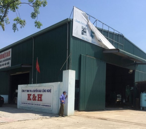 K & H Technology Transfer Company hires defense land west of Da Nang Airport (Photo: ĐNO)