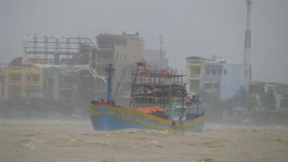 Typhoon Damrey makes landfall in the south central region of Vietnam on November 4