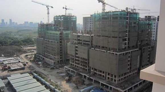 A future social housing project under construction in District 2, HCMC (Photo: SGGP)