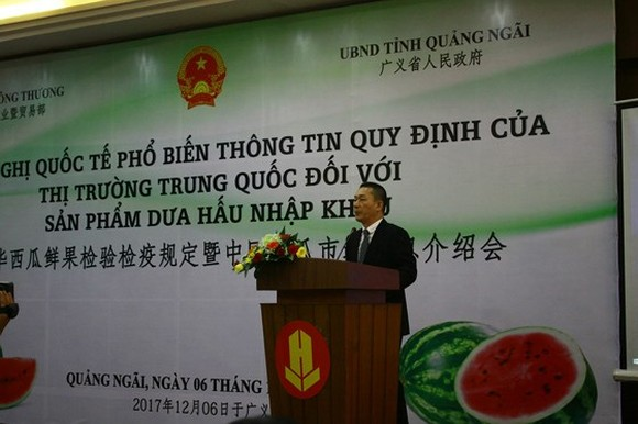A Chinese representative states at the conference (Photo: SGGP)