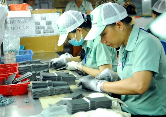 Workers produce mechanical accessories and parts at the Hirota Precision Viet Nam Co.,Ltd in Dong Nai Province. (Photo: VNA/VNS)
