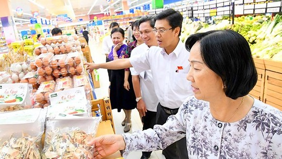 HCMC People's Council delegation inspects Tet goods preparation at Saigon Co.op on December 18