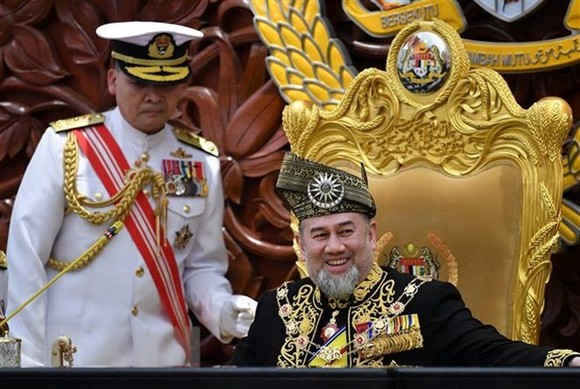 King Muhammad V in a parliament meeting on July 17 (Source: AFP)