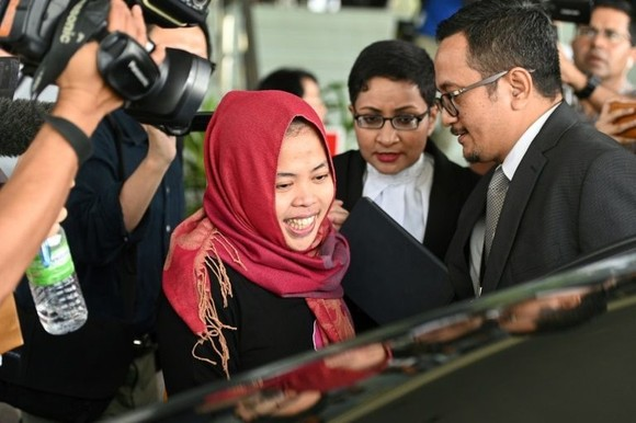 Siti Aisyah had been accused of killing North Korean national Kim Chol by smearing VX nerve agent on his face at Kuala Lumpur airport in February 2017, in a brazen Cold War-style hit that shocked the world. (Photo: FP/VNA)
