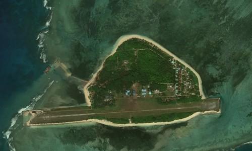 Thi Tu island captured in late 2018 (Source: AMTI)